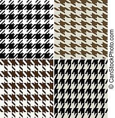 houndstooth fabric design