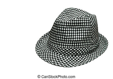 Houndstooth Hat - Houndstooth hat. Isolated image with...