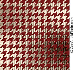 Houndstooth Knitted Pattern - Seamless knitted houndstooth...