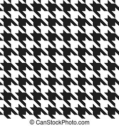 Houndstooth Pattern Black-White - A classic houndstooth ...