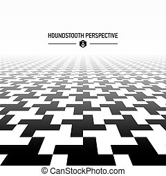 Houndstooth pattern perspective