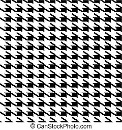 Houndstooth seamless background - Black and white seamless...