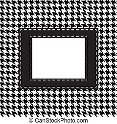 houndstooth seamless pattern. Fabric background