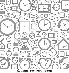 Hour background2 - Grey background of hours. A vector...