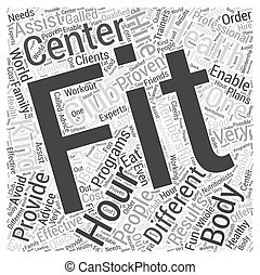 hour fitness Word Cloud Concept