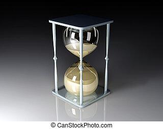 Hour Glass - 3D Illustration