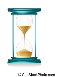 Hour Glass - illustration of hour glass showing time on...