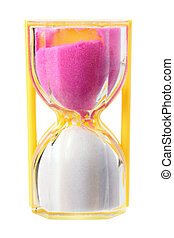 Hour Glass on White Background