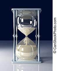 Hour Glass - 3D Illustration.
