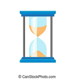 Hour glass timer icon, flat style