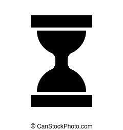Hourglass black icon .