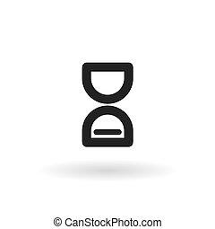 Hourglass black icon