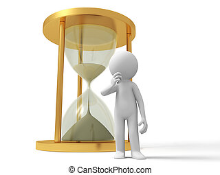 hourglass - A people standing in front of a hourglass