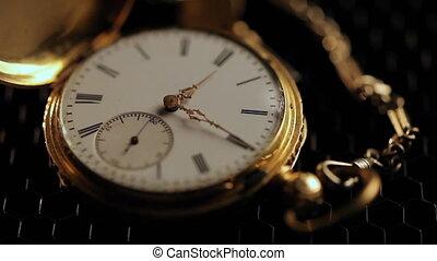 Hourglass. Clock. Glass