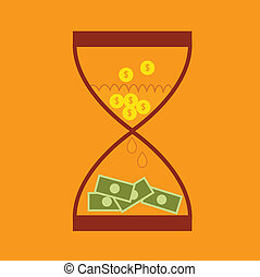 Hourglass concept business finance