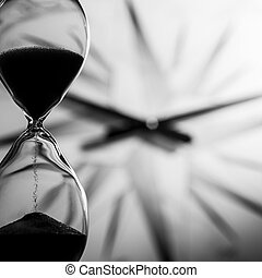 hourglass, concept of time