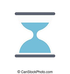 hourglass flat color icon