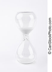 Hourglass for measuring time.