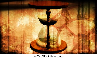 Hourglass Grunge Looping Background - Hourglass Grunge...
