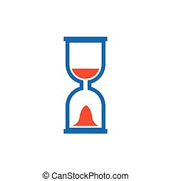 hourglass icon and logo vector blue, orange