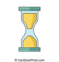 hourglass icon, colorful design