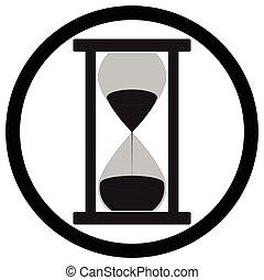 Hourglass icon flat