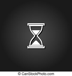 Hourglass icon flat