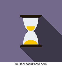 Hourglass icon, flat style