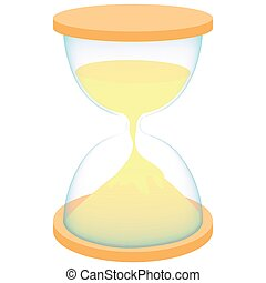 Hourglass icon in cartoon style