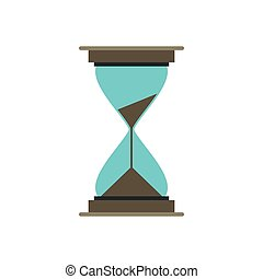 Hourglass icon in flat style
