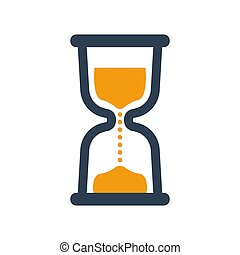 Hourglass icon on white background.
