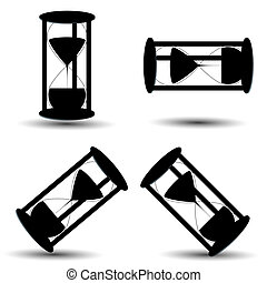 Hourglass icon set