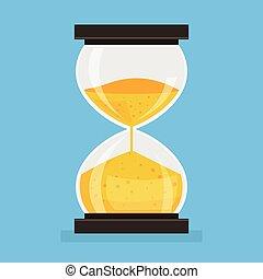 Hourglass Icon. Vector flat cartoon illustration