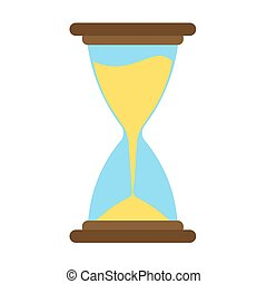 Hourglass icon vector time sand hour clock glass design illustration. Timer concept minute countdown graphic flat