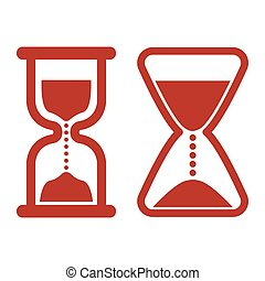 Hourglass icons on white background.