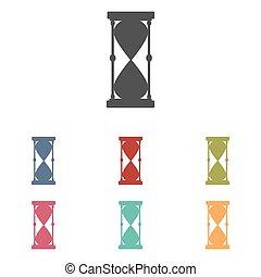 Hourglass icons set