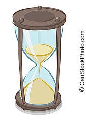 hourglass, illustratie, vector