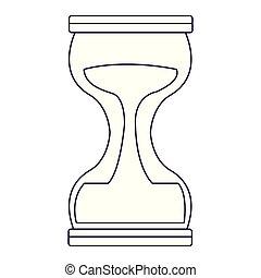 hourglass isolated icon