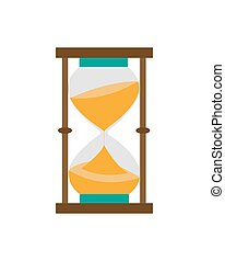 Hourglass isolated on a white. Vector illustration