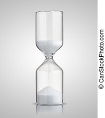 hourglass isolated on gray background
