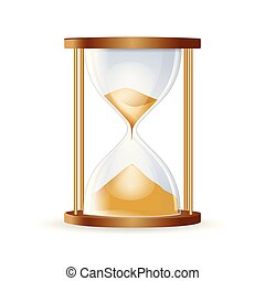 Hourglass isolated on white background.Highly detailed vector illustration