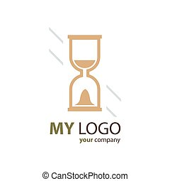hourglass logo brown color