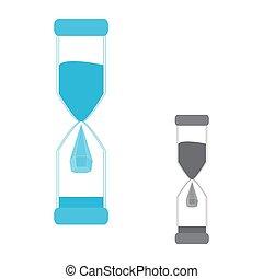Hourglass. Logo water drop.