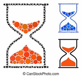 Hourglass Mosaic Icon of Round Dots