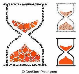 Hourglass Mosaic Icon of Tuberous Pieces