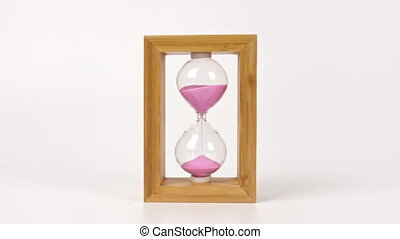 Hourglass on a white background