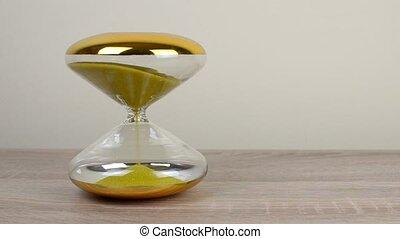 Hourglass on Desk