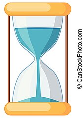 hourglass on white background