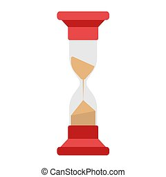 Hourglass on white background. Vector illustration in trendy flat style. ESP 10.
