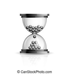 Hourglass - Realistic high detailed vector illustration of ...